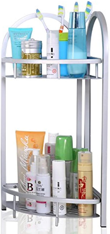 Kitchen Bathroom Free Drilling Shelving Floor Type Basin Tripod Shelving Storage Rack ( color   Silver )