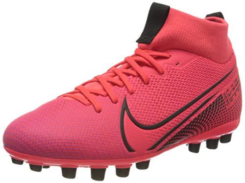 Nike Superfly 7 Academy AG, Zapatillas de fútbol Americano Unisex Adulto, Laser Crimson-Láser para Crimson, Color Negro, 44.5 EU