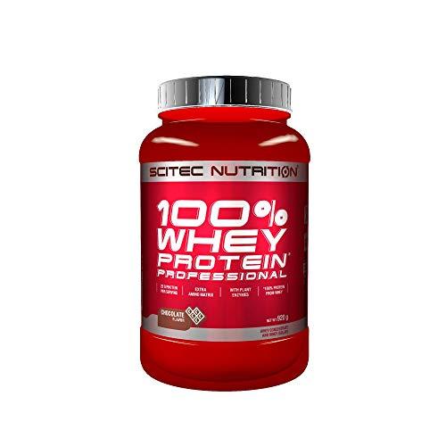 Scitec Nutrition 100% Whey Protein Professional mit extra zusätzlichen Aminosäuren und Verdauungsenzymen, 920 g, Schokolade