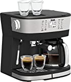 Bella Pro Series - Combo 19-Bar Espresso and 10-Cup Drip Coffee Maker - Stainless Steel (Refurbished)
