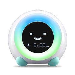 LittleHippo Mella Ready to Rise Children's Trainer, Alarm Clock, Night Light Sleep Sounds Machine (Arctic Blue)
