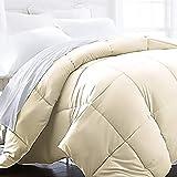 Beckham Hotel Collection 1600 Series - Lightweight - Luxury Goose Down Alternative Comforter - Hotel Quality Comforter - Twin/Twin XL - Cream