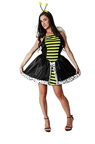 Costumizate! Disfraz de Abeja Reina Adulto Especial para Fiestas de Disfraces y Carnaval Talla Unica
