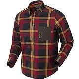 Härkila Amlet L/S - Camisa de Caza y Ocio con diseño Active-Fit, Hombre, 140109548, Rojo/Black Check, XX-Large