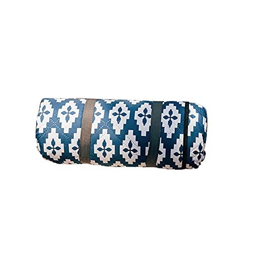 BLANKET Esteras de Picnic Manta de Camping 150 cm × 200 cm / 200 cm × 200 cm Impermeable 4 mm Ripstop Secado rápido Lavable en la Lavadora por Tienda Playa jardín Senderismo Viaje (Azul Amarillo)