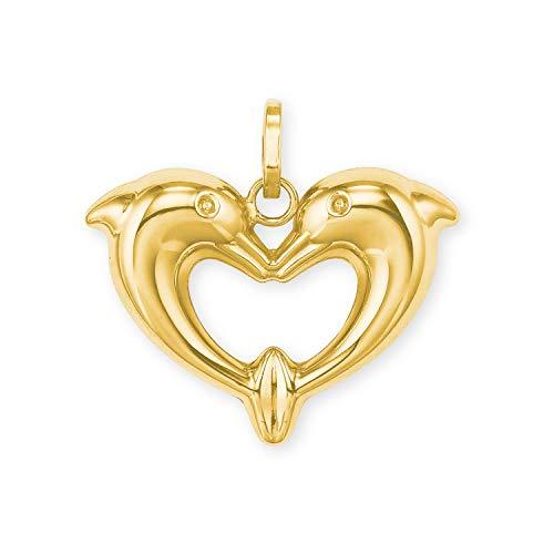 amor Anhänger für Damen aus Gold 585/14 ct, Delphin