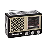 LYA Portable Multiple Band Radio, FM/AM/SW Radio Plug-In Radio Mini Radio with Telescopic Antenna Suitable for...