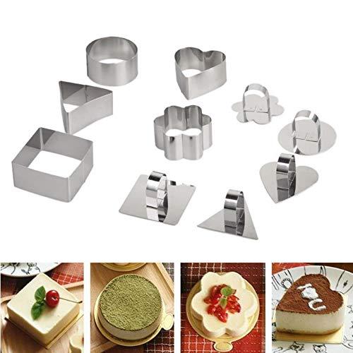 Motivbackformen Backformsets Kuchenringe 5 Stück Küche Diy Backformen Werkzeuge Käseform Form Cupcake Form Salat DessertMousse Ring Kuchen Käse Tiramisu Kekse Slicer