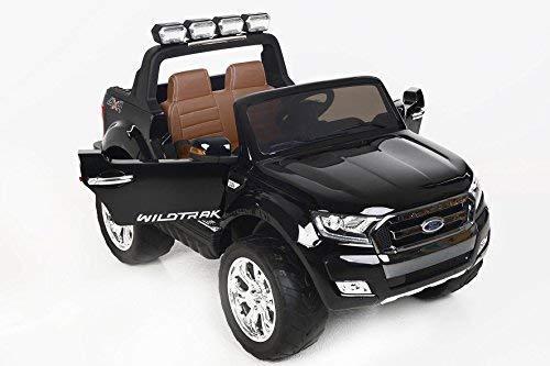 RC Auto kaufen Kinderauto Bild 4: RIRICAR Ford Ranger Wildtrak 4X4 LCD Luxury, Elektro Kinderfahrzeug, LCD-Bildschirm, lackiert schwarz - 2.4Ghz, 2 x 12V, 4 X Motor, Fernbedienung, 2-Sitze in Leder, Soft Eva Räder, Bluetooth*