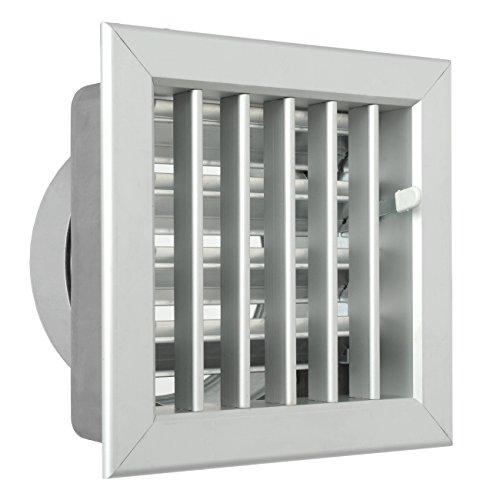 La Ventilazione GCSIAL1615120 Griglia Incasso per Camini, Alluminio, 160x150 mm