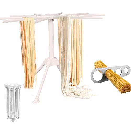 Zusammenklappbarer Frisch-Trockenständer + Spaghetti Pasta Messgerät Werkzeug für Haushalt Pasta Maker weiß