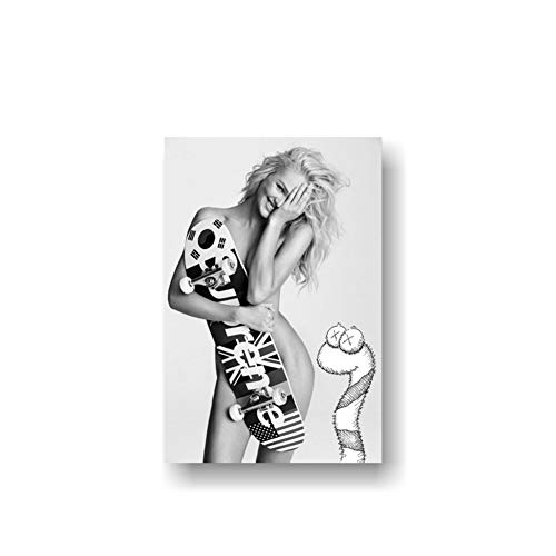 xiongda Candice Swanepoel Leinwand Home Decor Poster Sexy Unterwäsche Mädchen Poster Sexy Model Wallpaper Sexy Dessous / 60X80cm-No Frame