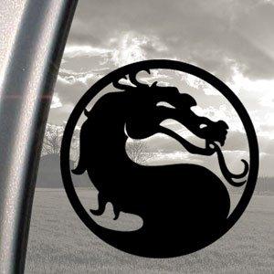 Auto-Fensteraufkleber, Motiv Mortal Kombat Drache, Schwarz