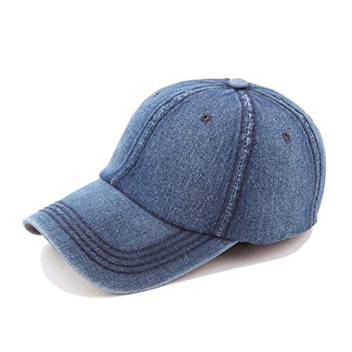 DGFB Blaue Kappe Lässige Jeans-Baseballmütze Streetwear Hysteresenhut Hip Hop Damen Herren Einstellbare Schirmmützen