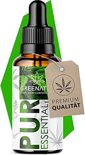 *𝗘𝗜𝗡𝗙Ü𝗛𝗥𝗨𝗡𝗚𝗦𝗣𝗥𝗘𝗜𝗦* GreeNature® Premium Essential Natur Öl I Hanfsamenöl 1500mg Hanf Terpene I Vegan und natürliche Inhaltsstoffe Neutrale Lieferverpackung