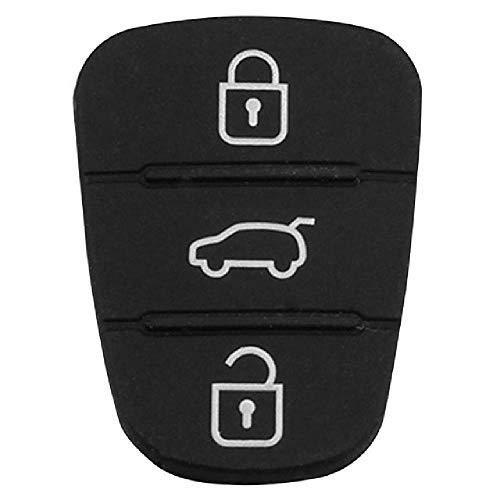 TGBVRemplazo de Almohadilla de Goma de Silicona 3 Botones Carcasa de Llave para Hyundai Kia Flip Remote Auto Car Key Fob Case Cover