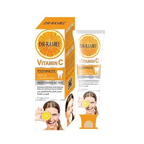 Luckine Vitamina C Sbiancante Dentifricio Attivo Pulizia Denti Proteggi Gomme Rimozione Odore Dentifricio