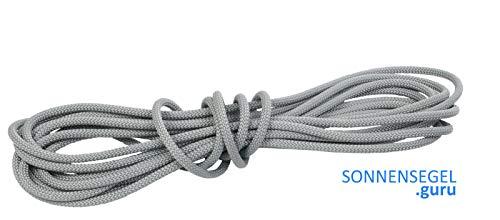 Liros 10m Sonnensegel Seil/Tauwerk grau/Silber 6mm Polyester