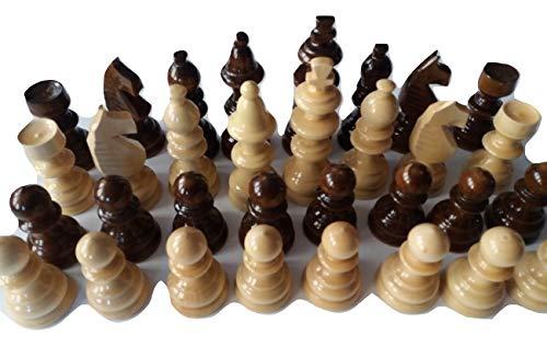 Neue große, riesige schön, speziell Handspindel Handwerk Handarbeit Schachfiguren aus Holz,König ist 11 cm