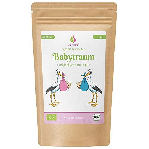 JoviTea Babytraum Bio Thee - Traditioneel Recept - Speciale Kuidenmelange Thee - Uit Gecontroleerde Biologische Teelt - 100% Natuurlijk en zonder Toegevoegde Suikers – Baby Droomthee 75 g
