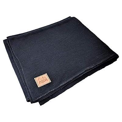 ASR Outdoor 64 in x 84 in Black Wool Blanket