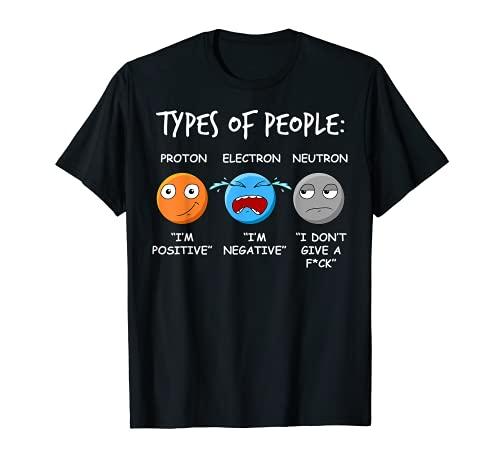 Proton Elektron Neutron Physik Student Für Physiker T-Shirt