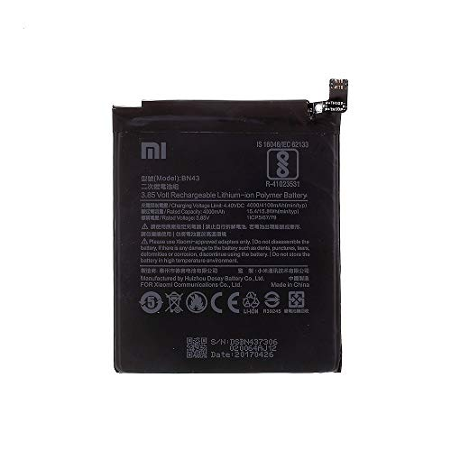 BEST2MOVIL Interner Akku BN43 4100 mAh kompatibel mit Xiaomi Redmi Note 4X