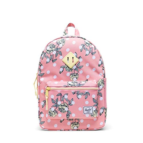 """Herschel Kids Youth Heritage 16L Back Pack - Polka Floral Peony size 15.5""""H x 10.5""""W x 4.5""""D"""