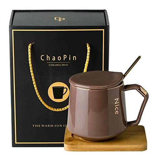 donfhfey827 Juego de Tazas de café pequeño Europeo Creativo Regalo de Negocios de Gama Alta Taza de cerámica Simple Juego de té de la Tarde