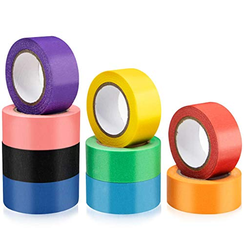 Colored Tape 9 Rolls Colored Craft Tape Colored Masking Tape for Crafts Kids Fun Office Working DIY Home Decoration Arts 25mm x 12m