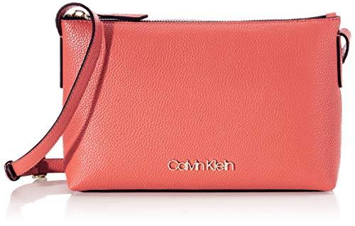 Calvin Klein - Neat Crossbody, Bolsos bandolera Mujer, Rojo (Coral), 1x1x1 cm (W x H L)