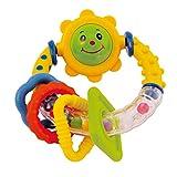 Bieco Rassel Greifling Baby   Bunte Baby Rassel ab 3 Monate   Baby Greifling mit beweglichen Elementen   Ringrassel Baby   Motorikspielzeug für Babys   Greifringe Baby für Mädchen und Junge