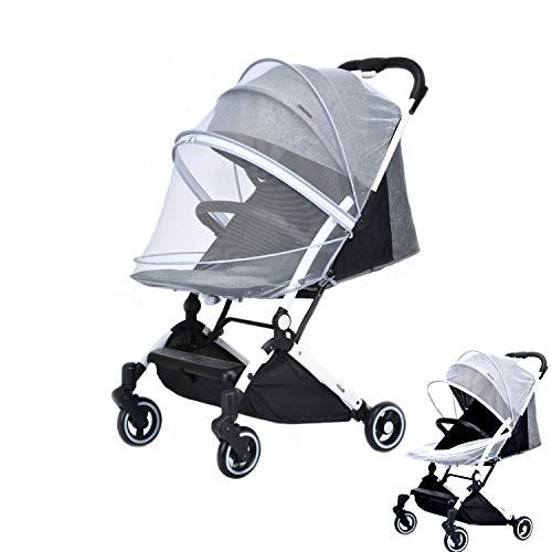 Mosquitera para Cochecito, Red antiinsectos universal para capazo,Mosquitera Carrito Bebé Mosquitera para Cochecito,Cremallera Bidireccional,para capazo, silla de paseo y cuna de viaje