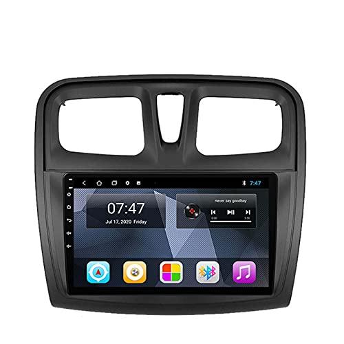 GOHHK Android 10.0 Radio De Automóvil para Renault Logan 2 2012-2019 SANDERO 2 2014 2019 GPS Navigation 2 DIN 9 Pulgadas Estéreo con DSO Carplay 4G(Size:Ocho núcleos,Color:WiFi:4GB+64GB)