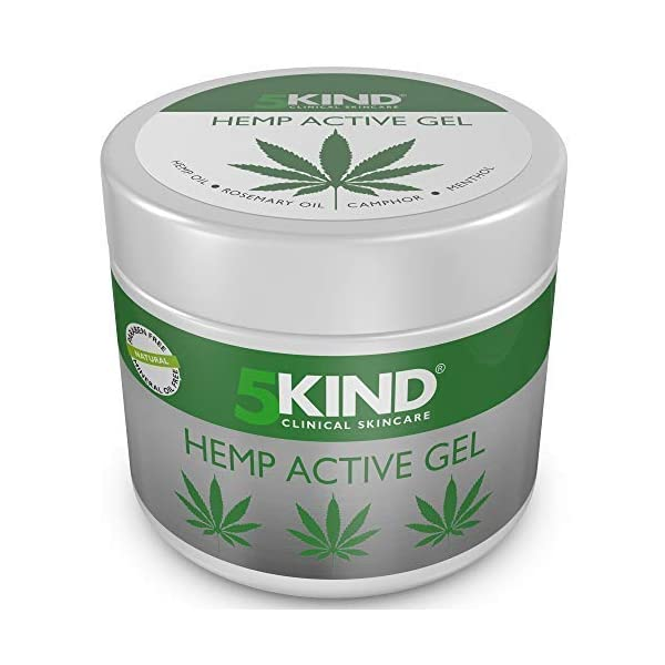 Hemp Joint & Muscle Active Relief Gel- High Strength Hemp Oil Formula Rich in Natural Extracts by 5kind. Soothe Feet… 1
