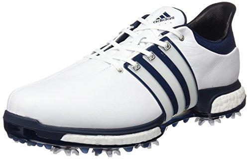 Adidas Tour360Boost Golf Schuhe, Herren, Herren, Tour360 Boost, Mehrfarbig (blanco / azul / plata), 46 EU (11 UK)