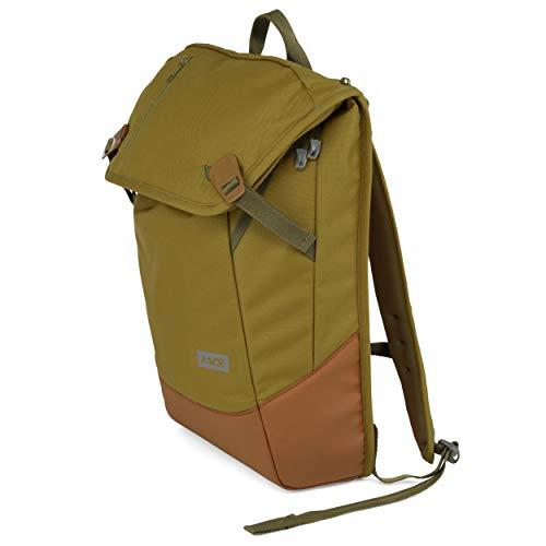 AEVOR Daypack Rucksack für die Uni und Freizeit inklusive Laptopfach und erweiterbar auf 28 Liter Woodland Grün- oliv