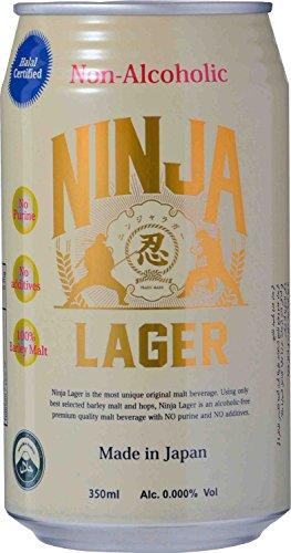 【ハラル認証】日本ビール 忍者ラガー ノンアルコールビール [ ノンアルコール 350ml×24本 ]