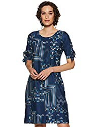 AND Womens A-Line Knee-Long Dress