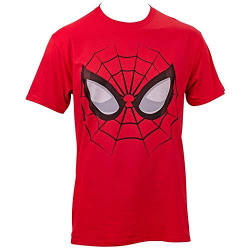 Camiseta masculina The Amazing Spider-Man Face, Vermelho, XXL