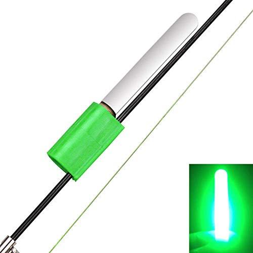 Matedepreso Rock LED Luminoso Accesorios de Pesca Resistente Luz de Noche Pesca Varillas Brillo - Verde, Free Size