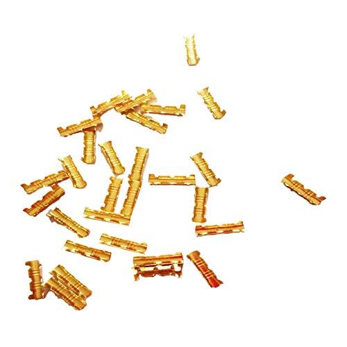 Misis Auto Elektrische Steckverbinder 100 Pcs Kabelschuhe Quetschverbinder Set und Terminals Stoßverbinder Für Auto Motorrad Schalter