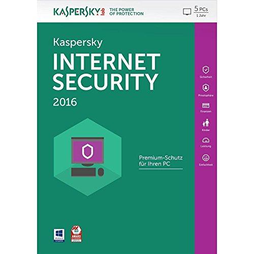 Kaspersky Internet Security 2016 - 5 PCs / 1 Jahr (Frustfreie Verpackung) [import allemand]