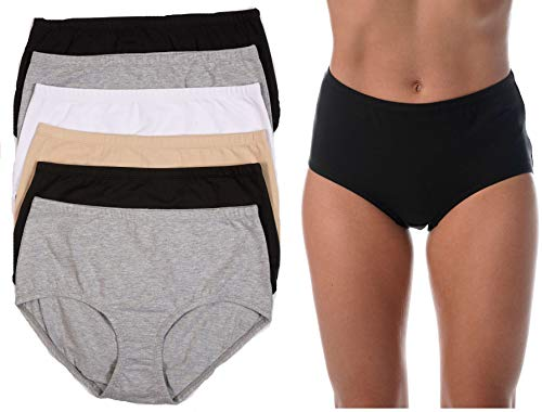 Just Intimates Comfort Brief Panty (Pack of 6) 6P-33055-XXL