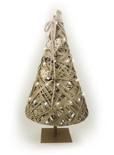 Tobs Albero Di Natale In Stile Shabby Chic Con Luci LED E Ghirlanda Di Cuori