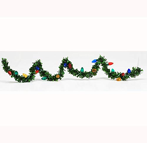 Dollhouse Miniature Christmas Holiday Garland with Lights