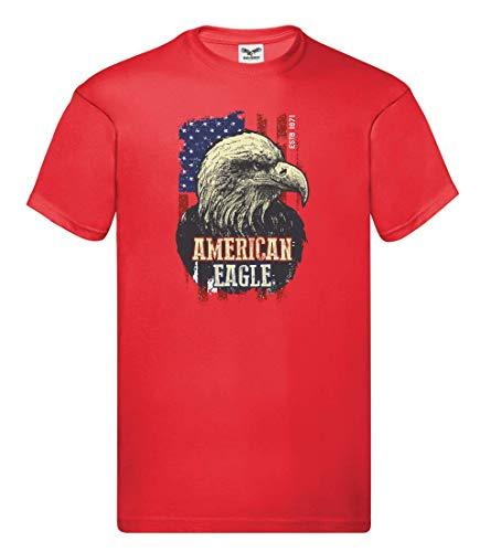 Camiseta unisex para niños y niñas con águila y pájaro. rojo 116 cm