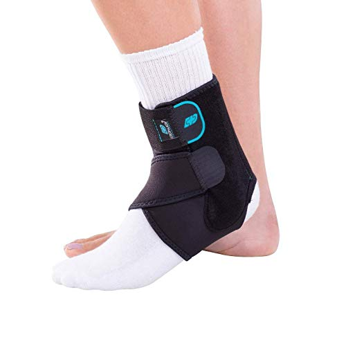 """DonJoy Advantage DA161AB01-BLK-S, M Stabilizing Ankle Brace, Lightweight Low Profile, Dual Compression Straps for Strains, Sprains, Arthritis, Adjustable to fit Small to Medium, 7.5"""" to 9.5"""""""