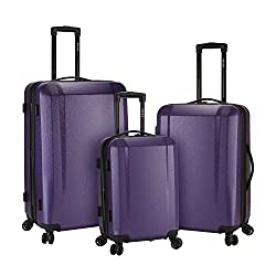 in budget affordable 3-piece Kenji suitcase set with expandable rigid frame, 8-wheel spinning system, additional packaging …