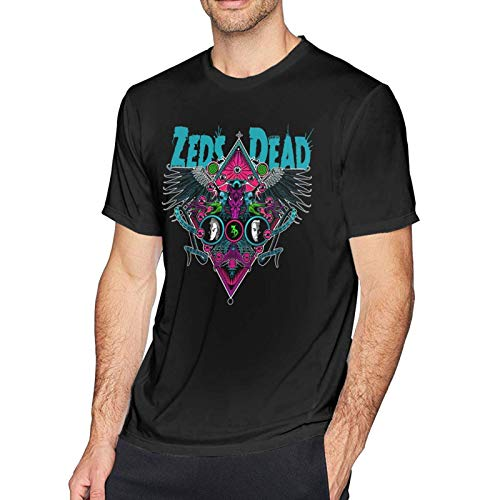 Ze-ds De-ad Men Short Sleeve T-Shirt Cotton Tee Sports Round Neck Tops Black